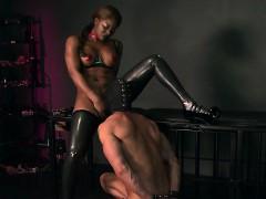 Busty ebony mistress interracial sex