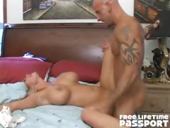 Big titted blondie pornstar Shyla Stylez gets pounded by a