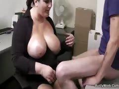 Boss fucks chubby slut
