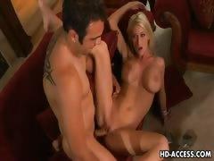 Big tits blonde riding cock like a wild woman