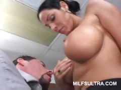 Busty MILF Strips Her Clothes