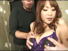 Hikaru Wakabayashi looks amazing in her purple sequined
