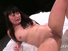 Sex starved asian tramp taking two cocks in ass and pussy