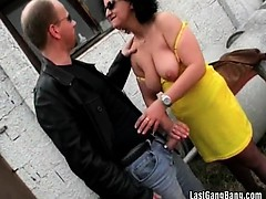 Big boobed milf wants to try some cock