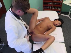 Doctor licks and fucks patient in an office