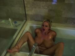 Big Titty MILF Kelly Madison Takes Her Tatas For A Bath